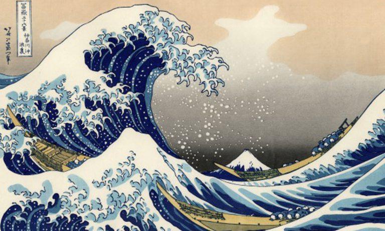 """""""La vague"""" estampe d'Hokusai copie"""